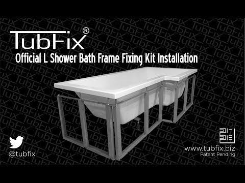 Official installation procedure for a TubFix L Shower Bath Frame