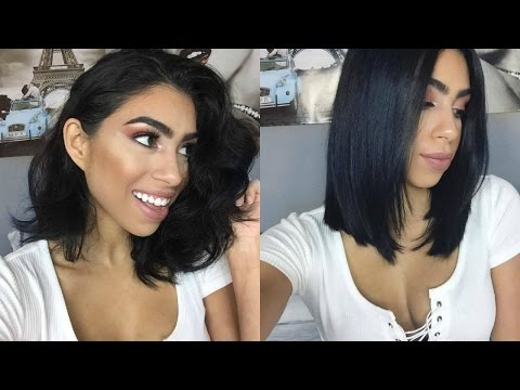 Blow-Dry Short Hair Straight (with Volume!)