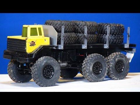 RC ADVENTURES - 6x6 Motor Swap - Blackwell 1/10th Scale Custom Heavy Hauler
