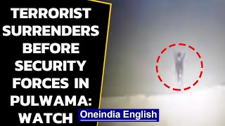 J&K: Terrorist  surrenders before security forces in Pulwama, watch the video | Oneindia News