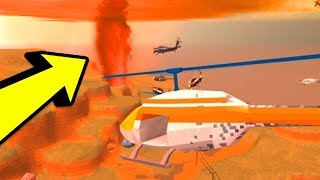 🌋 Jailbreak VOLCANO ERUPTING LIVE REACTION! NEW JAILBREAK CITY | Roblox Jailbreak New Update