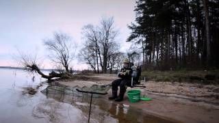 Ловля леща поздней осенью  на Истринском водохранилище..