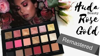 Huda Beauty Rose Gold Remastered - GRWM Mature/Hooded Eyes