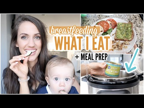 WHAT I EAT IN A DAY BREASTFEEDING | EASY CROCKPOT RECIPE | HEALTHY MEAL PREP | SAHM OF 2