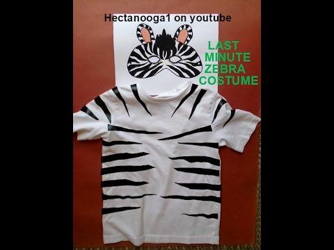 Zebra mask and last minute zebra costume youtube zebra mask and last minute zebra costume solutioingenieria Choice Image