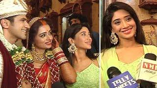 Shivangi Joshi At Parul Chauhan Wedding Ceremony In Mumbai