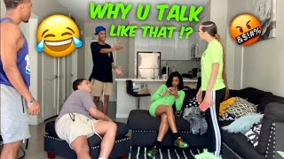 ASKING WOAH VICKY WHY SHE TALKS LIKE THAT‼️🤣  *Gets heated*