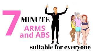 7 MINUTE WORKOUT WITH ARM EXERCISES FOR WOMEN AND AB WORKOUT - AT HOME WORKOUT | LUCY WYNDHAM-READ