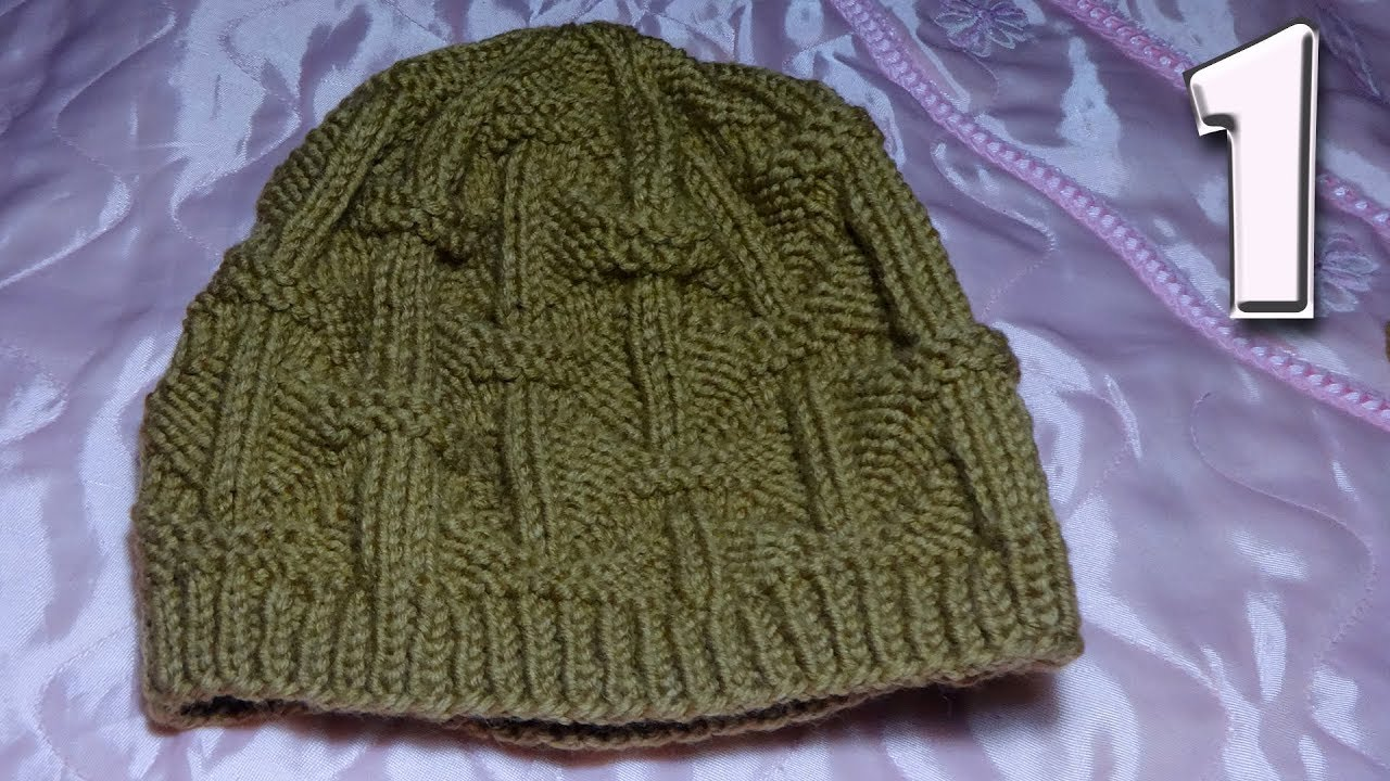 мужская шапка 58 62 см вязание спицами Youtube