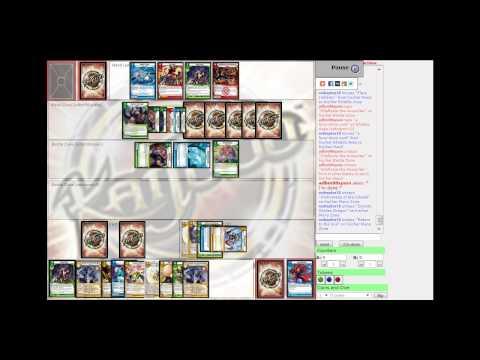 Kaijudo - TCO - RedRaptor10 (Holy Dragon) vs. adbm98spain (Cyber Saberbolt) [4-13-13]