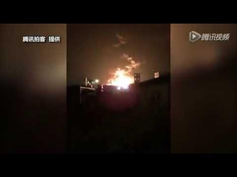 Взрыв в китае Тяньцзинь 12 августа 2015 // explosion in China Tianjin August 12, 2015
