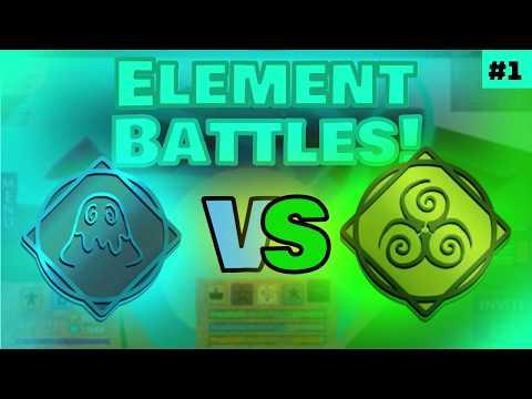 Slime vs Acid!   Roblox Elemental Battlegrounds Element Battles #1
