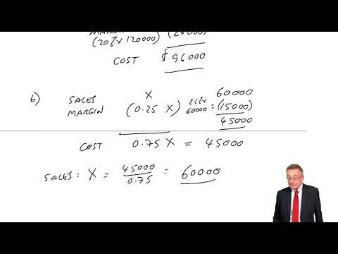 Mark-up and Margins - ACCA Financial Accounting (FA) lectures