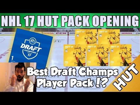 My BEST Draft Champions Player Pack! - NHL 17 HUT - Hockey Ultimate Team - Crazy Pulls!