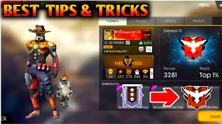 FREE FIRE RANKE  PUSHING NEW TIPS & TRICKS VIDEO [GARENA FREE FIRE MALAYALAM]