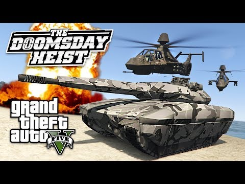 GTA 5 *DOOMSDAY HEIST DLC* INSPIRED MILITARY MOD!! (GTA 5 Mods)