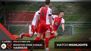 Match Highlights: Bradford (Park Avenue) 1-2 Harriers 13/10/18