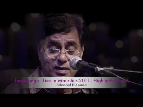 Jagjit Singh Live In Mauritius Part 2 - Selected highlights with stereo HD sound