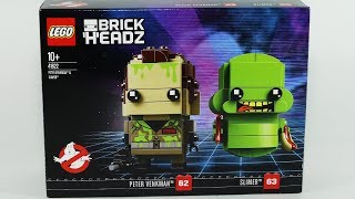 Ghostbusters Lego Brick Headz with Peter Venkman and Slimer