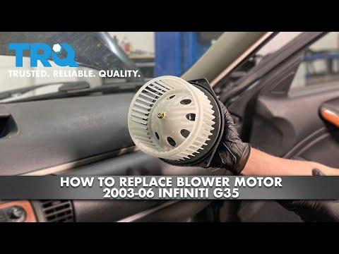 How To Replace Blower Motor 2003-06 Infiniti G35