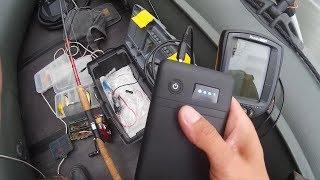 Аккумулятор для эхолота заменяем повербанком с 12В, питание эхолота+зарядка телефона,камеры+фонарик