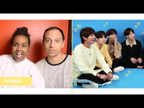 BTS SAYING AND DOING LESS THAN INTELLIGENT THINGS IN AMERICA REACTION (BTS REACTION)