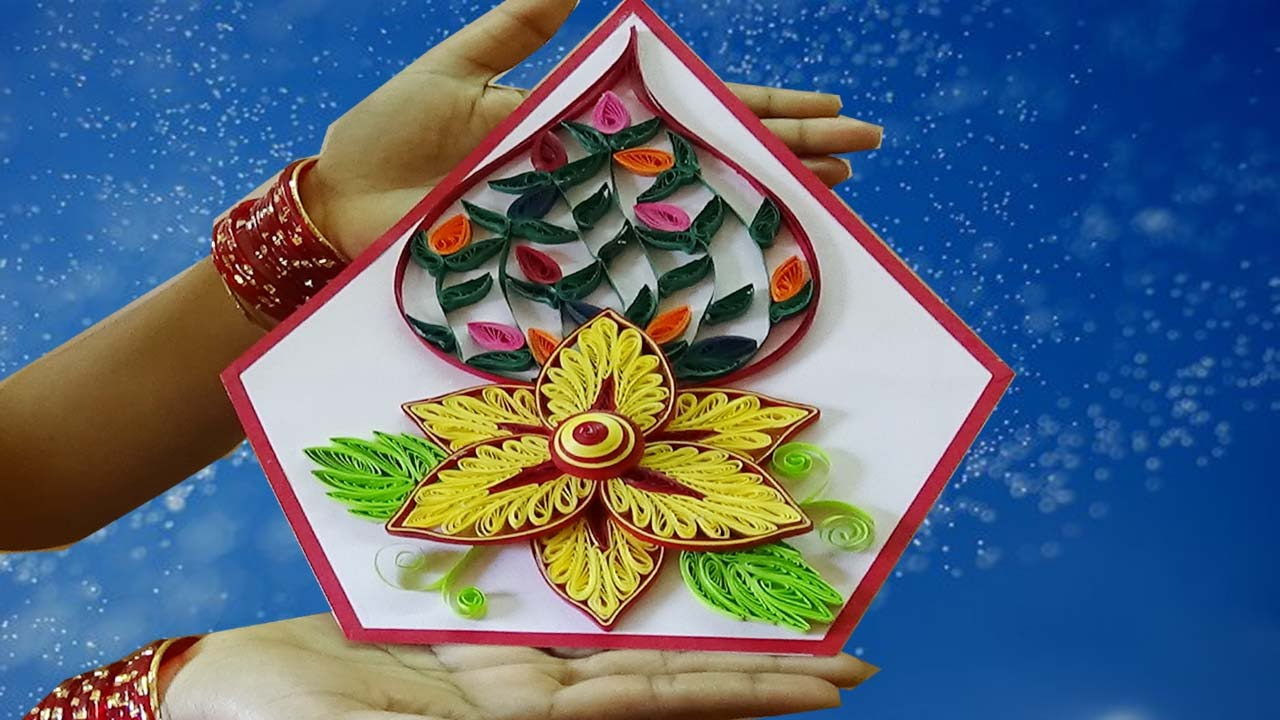 ☑️Paper Quilling Art ❄How to make Beautiful Quilling Flower ...