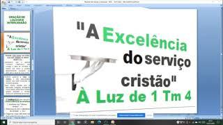 1 Tm 4:6b -   O Bom Servo (ministro) de Cristo