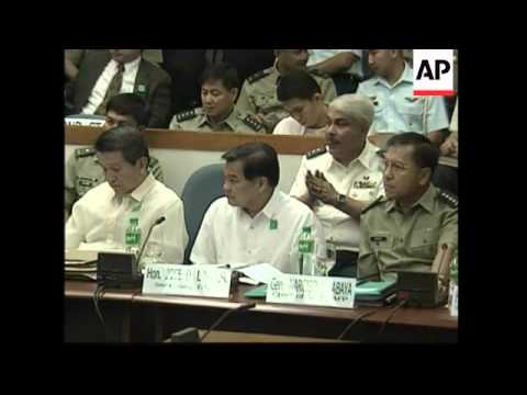 WRAP Soldiers involved in the failed mutiny appear before Senate
