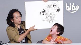 Kids Describe Their Fears to an Illustrator | Kids Describe | HiHo Kids thumbnail