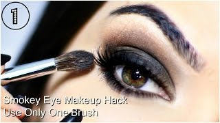 Easy Smokey Eye For Beginners | One Brush Application