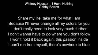 Gabby Barrett - I Have Nothing Lyrics (Whitney Houston) American Idol