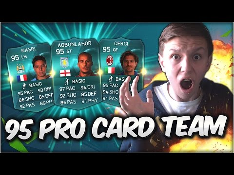 WTF!! FULL 95 RATED PRO CARD TEAM!! - FIFA 15 Ultimate Team