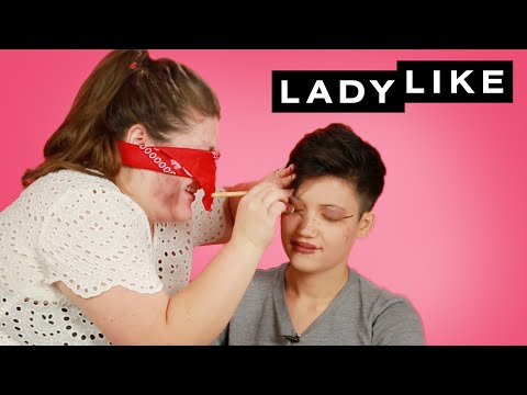 We Dared Each Other To Do Our Makeup Blindfolded • Ladylike