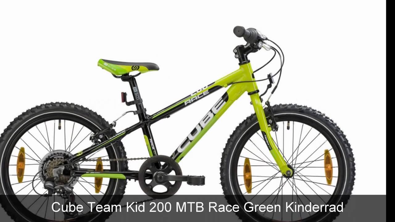 cube team kid 200 mtb race green kinderrad youtube. Black Bedroom Furniture Sets. Home Design Ideas