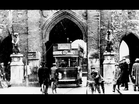 Southampton Tram Ride Through the Bargate c1900