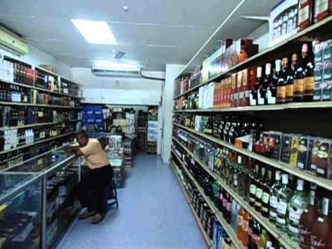 Buying Alcohol to take to Brunei in Bandar Labuan - Malaysia - Borneo - April 2013