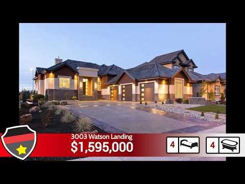 Walkout Bungalow Edmonton -Luxury Homes Edmonton! - 3003 Watson Landing