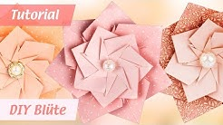 "Sternblüte ""Sunny"" aus Faltpapier basteln - DIY Origami-Blüten - paper folding art - Ideen mit Herz"