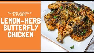 How to Spatchcock Whole Chicken + Lemon Herb Chicken Recipe  Butterfly Chicken