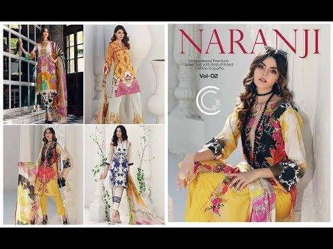 167da8c9c4 Charizma Naranji Vol-2 Premium Lawn Suits With Chiffon Dupatta Collection  2019-20 - YouTube