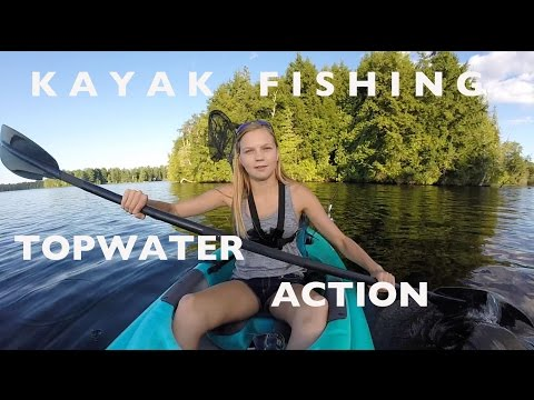 Evening Kayak Fishing - Topwater Action
