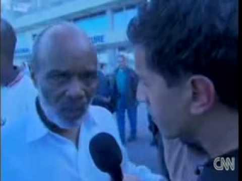 René Préval Haiti President   Exclusive interview 8  with C