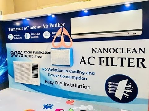NF Nanoclean AC Filter -  #PureAir #BreathePure #airpollution #NasoForGood #CleanAir #nanoperk