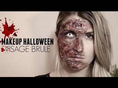 🎃 Makeup Halloween : Visage brulé