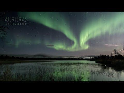Auroras In September 2019 (Enontekiö, Finland) (4K TIMELAPSE)