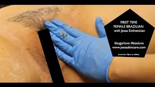 Repeat youtube video FULL Female Brazilian Waxing | First Time Brazilian Sugar Wax | Esthetician School