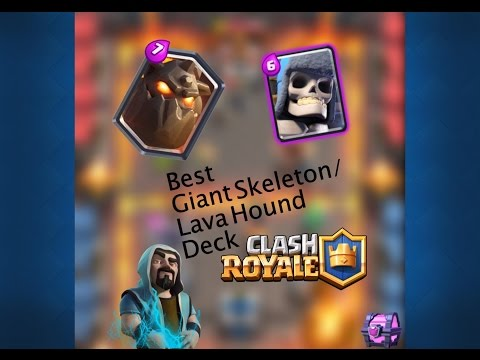CLONED GIANT SKELETON VS CLONED LAVA HOUND:CLASH ROYALE