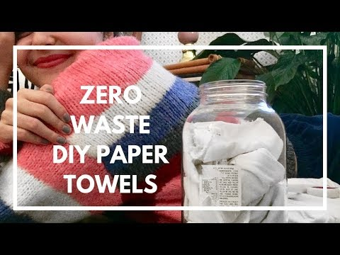 Zero Waste Alternative to Paper Towels // DIY Paper Towels for Natural Cleaning!