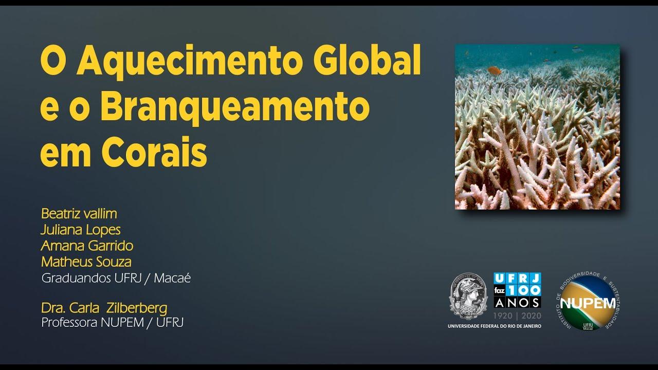 O Aquecimento Global e o Branqueamento de Corais
